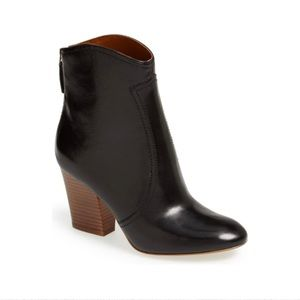 Nine West black Dashiell leather ankle bootie